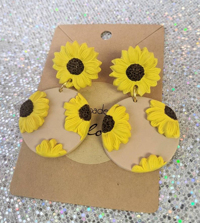 Beautiful Sunflower earrings