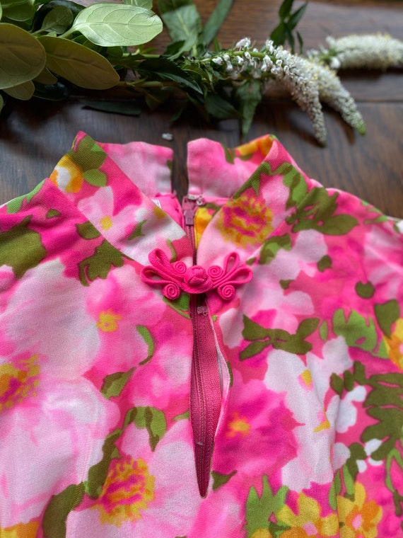 1960's Barbie pink maxi with angel sleeves
