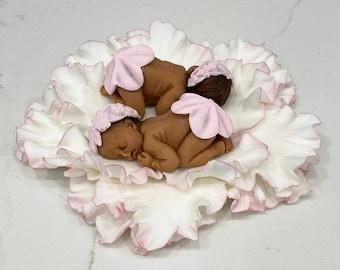 baby shower cake topper/Fondant baby cake topper/cake supplies/baptism cake topper/baby thin cake/1st birthday cake/sleeping baby cake