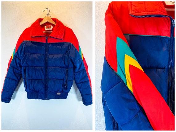 Vintage Ski Jacket | 70s WHITE STAG Colorblock | S
