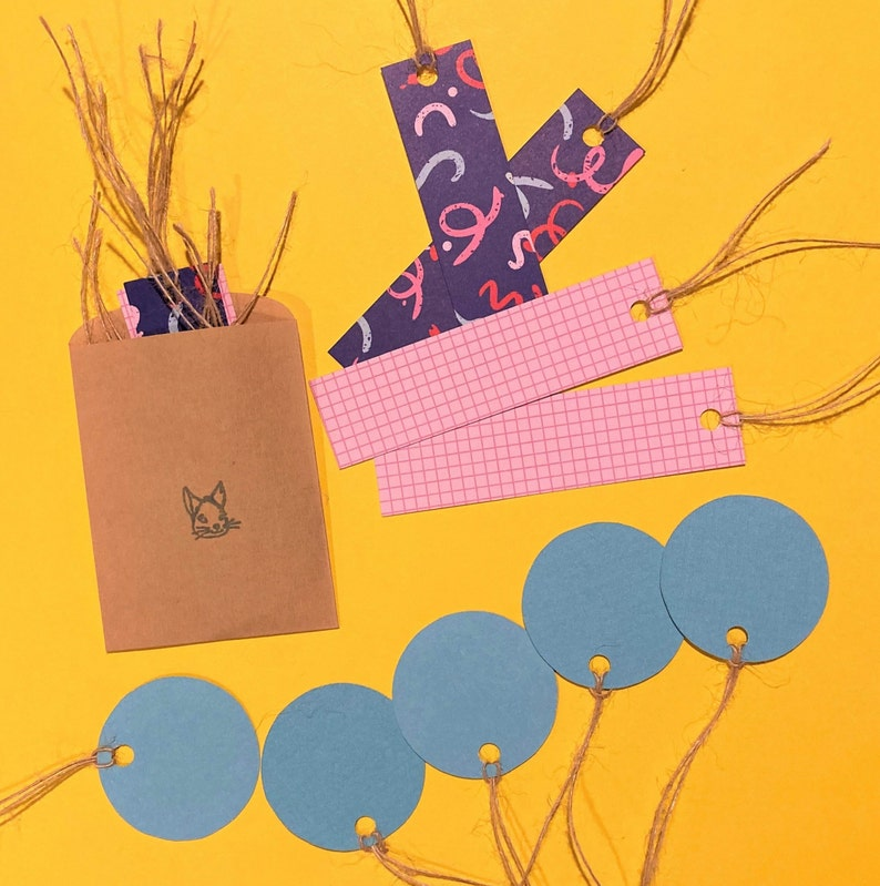Zig Zag Recycled Gift Tags