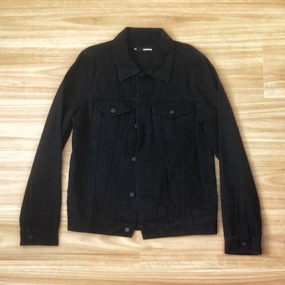 Plain Black Denim Jacket