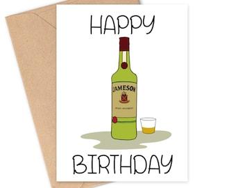 Jameson Irish Whiskey Birthday Card