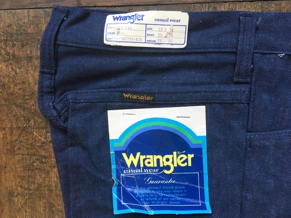 Wrangler Vintage Deadstock Bell Bottoms 11-146 Blu