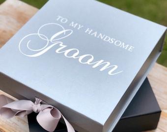Groom Gift Box, Groomsman Proposal Gift Box, Boudoir  Book Gift Box, Groom Wedding Gift