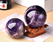 Natural Amethyst Ball - Stone Sphere Crystal 25-50mm