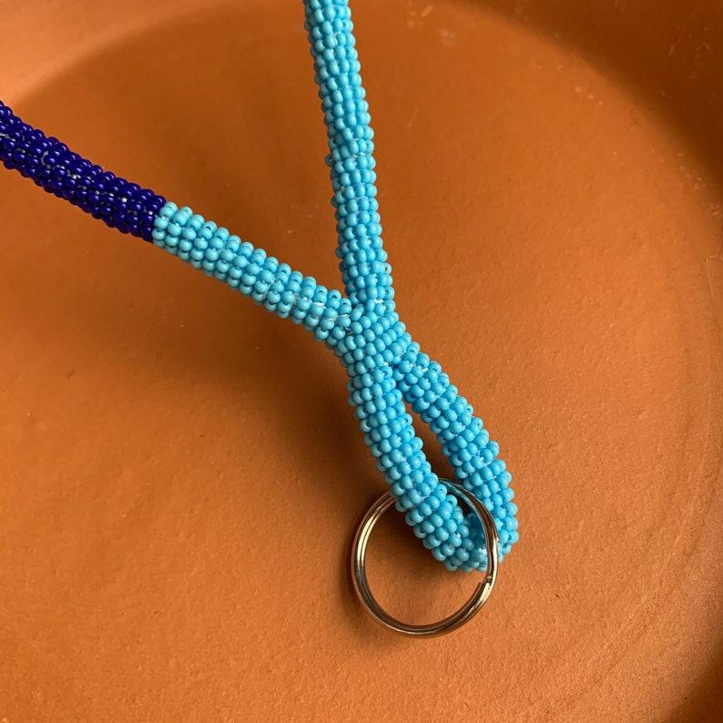 Beaded wristlet keychain