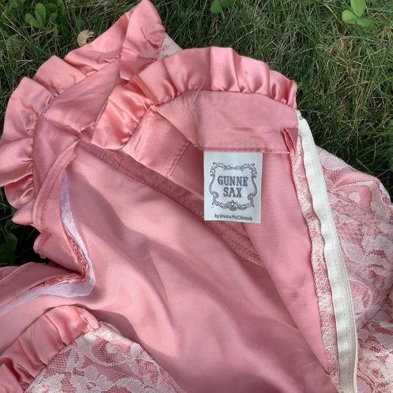 Vintage 1980's Gunne Sax Lace Dress - image 9
