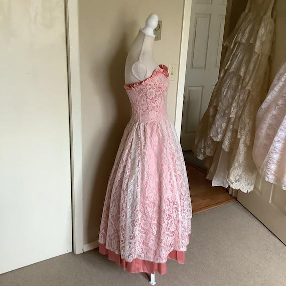 Vintage 1980's Gunne Sax Lace Dress - image 8