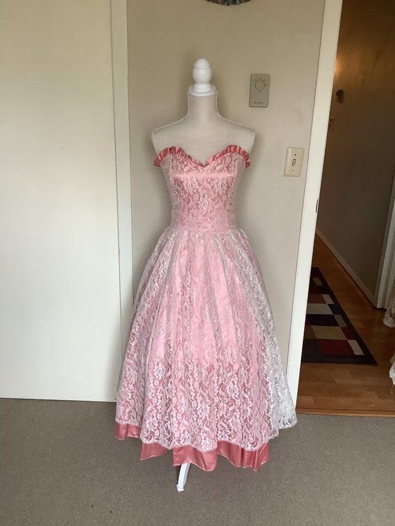 Vintage 1980's Gunne Sax Lace Dress - image 1