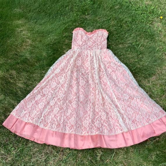 Vintage 1980's Gunne Sax Lace Dress - image 3