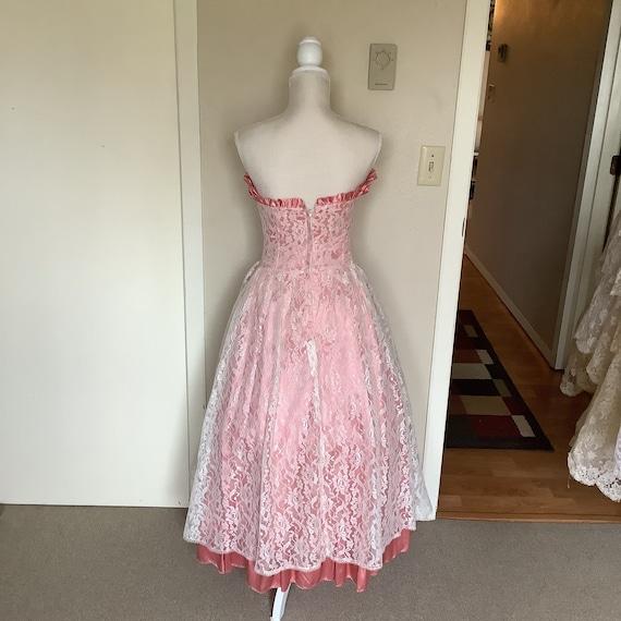 Vintage 1980's Gunne Sax Lace Dress - image 2