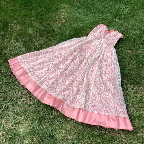Vintage 1980's Gunne Sax Lace Dress - image 4