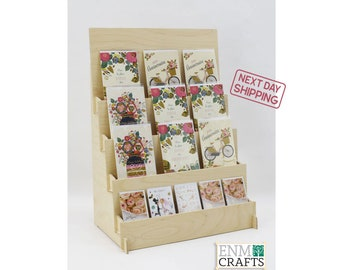 4 Tiered XL Greeting Card Display, CounterTop 4 Tier Rack for Craft Trade Shows - Next Day Shipping