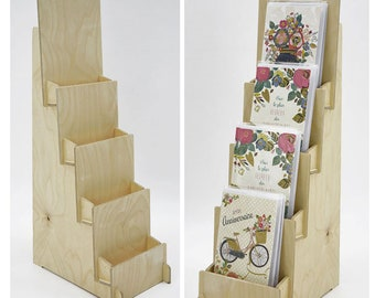 2 items - 4 Tiered Greeting Card Display, Counter Top 4 Tier Rack for Craft Trade Shows - Next Day Shipping