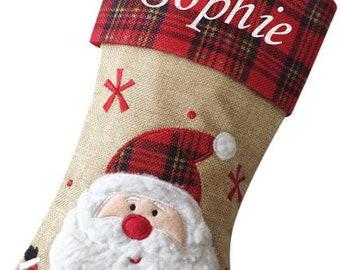 Santa Luxury Deluxe Personalised Embroidered Christmas Letter 2 Santa Xmas Stocking