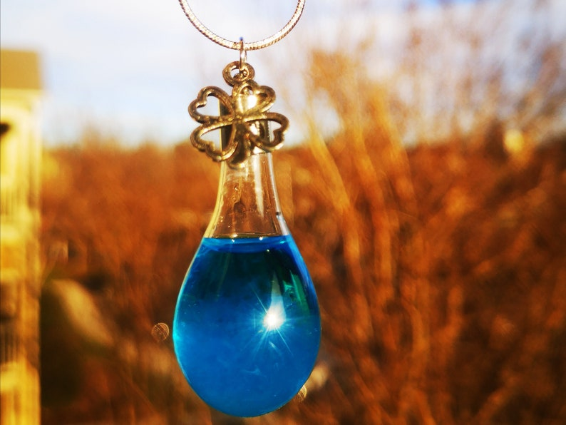 Anniversary Initial Necklace Storm Glass Birthdays Weather Predictor Perfect Gift for Valentine/'s Christmas