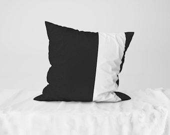 "Throw Pillow Case / Square Cushion Case White Line - 18"" x 18"", 22"" x 22"""