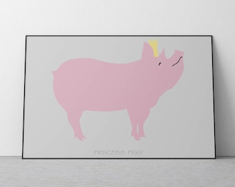 Poster of the Princess Piggy for Kids Room