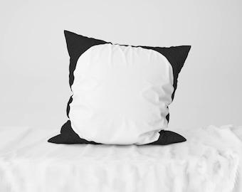 "Throw Pillow Case / Square Cushion Case White Circle - 18"" x 18"", 22"" x 22"""