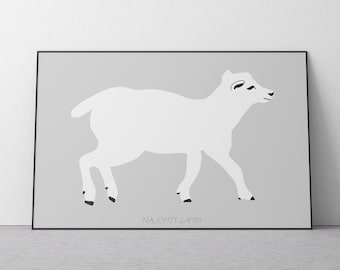 Poster of the Naughty Lamb for Kids Room