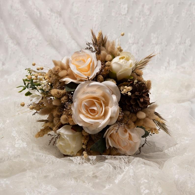 Bridal Bouquet Wedding flower Silk Flower Wedding bouquet Set Wedding BouquetBoho bouquet, Dried Flower Bouquet Set