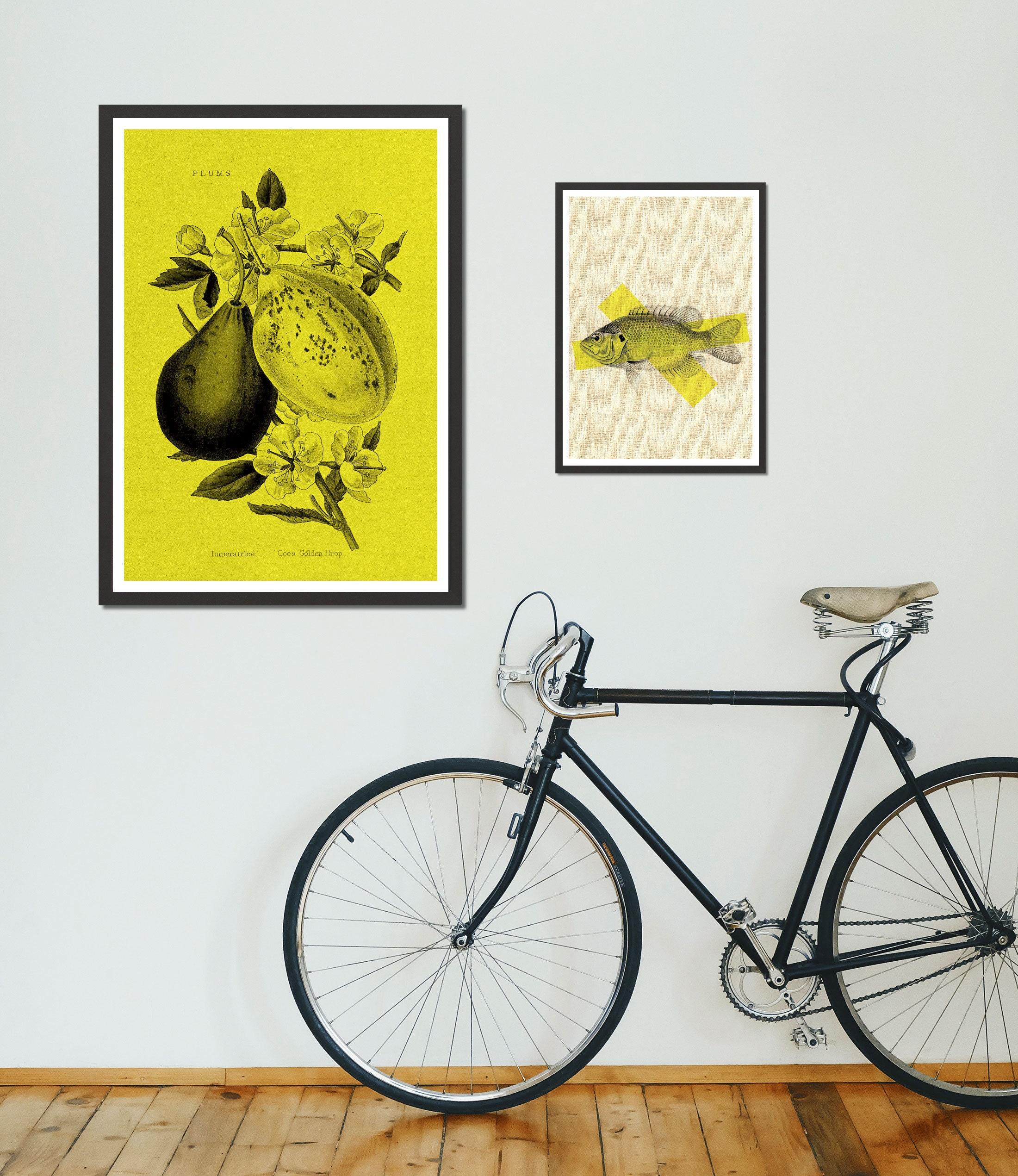 fisch dekorative zeichnung din a4 vintage kunstdruck  etsy