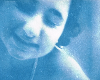 be in the water - blue 107 / Photography Cyanotype
