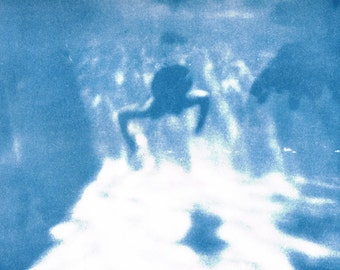 be in the water - blue 707 / Photography Cyanotype