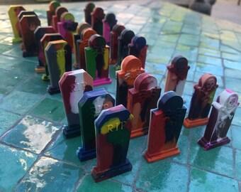 Dragonhart's Handmade Tombstone Crayons (Nine Tombstones)