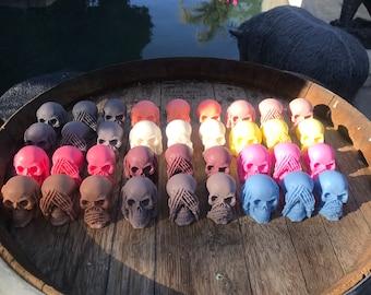Hear No Evil, See No Evil, Speak No Evil Skulls Artisan Soap Set