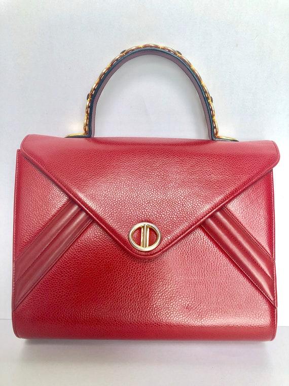 Christian Dior Vintage Top Handle Bag with Gold CD