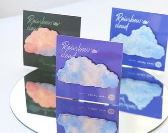 Clouds Shape Sticky Notes Set,Creative Sticky Notes,Post Sticky Notes,Diary Planner Sticky Note,Message Sticky Notes,Student Stationery,Gift