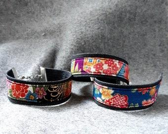Adjustable Kimono Bracelet - Fabric Bracelet - Japanese Kimono Bracelet - Fabric Jewelry