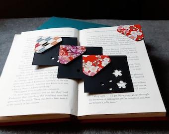 SET OF 3 - Dog-Ear Bookmarks -Corner Bookmarks - Japanese Pattern Bookmarks - Unique Bookmarks
