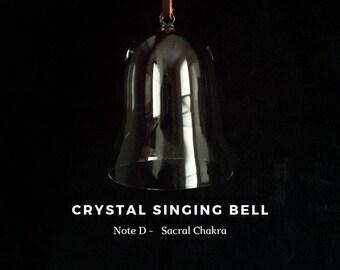 Sacral Chakra note D, Crystal Singing Bell (Sound Healing, Soundbath, Meditation, Reiki, Lightworker)