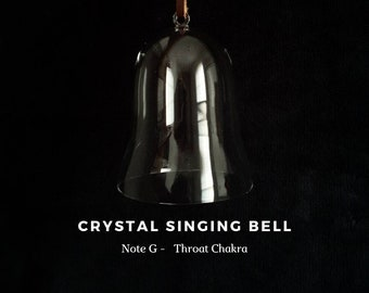 Throat Chakra, note G, Crystal Singing Bell (Sound Healing, Soundbath, Meditation, Reiki, Lightworker)