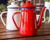 Handmade teapot 1.1L Enamel Coffee Pot Hand Tea Kettle Induction Cooker Gas Stove Universal
