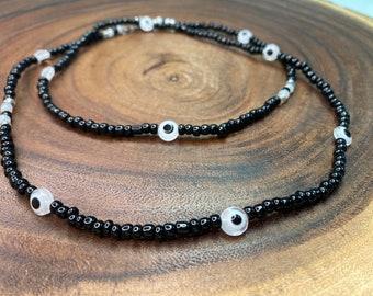 Crystal Waist Bead Black /& Silver AW 21