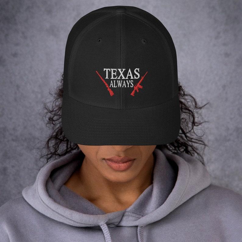 Gun Lovers Texas Always Retro Trucker Cap Guns