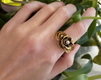 Dainty Ring Rose Gold Plated Statement Ring Rose Gold Ornament Ring Filigree Ring Rose Gold plated Boho Ring Rose Gold Plated Rings