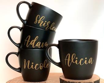 Customizable Coffee Mug - Matte Black