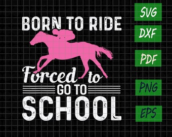 Born To Ride Forced To Work Horse T-SHIRT Riding Pony Equestrian birthday gift
