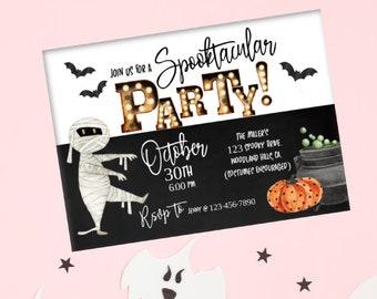 Halloween Party, Spooktacular Party, Costume Party, Family Halloween bash, Boo Bash, Halloween Invitation, Kids Halloween invite, Digital