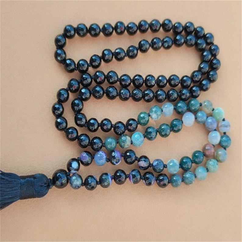 Buddhist Wrap Mala Japa Mala 108 Men/'s Yoga Wear Yoga Gift Men/'s Jewellery Yoga Fashion 108 Mala Beads 108 MEN/'S MALA BRACELET