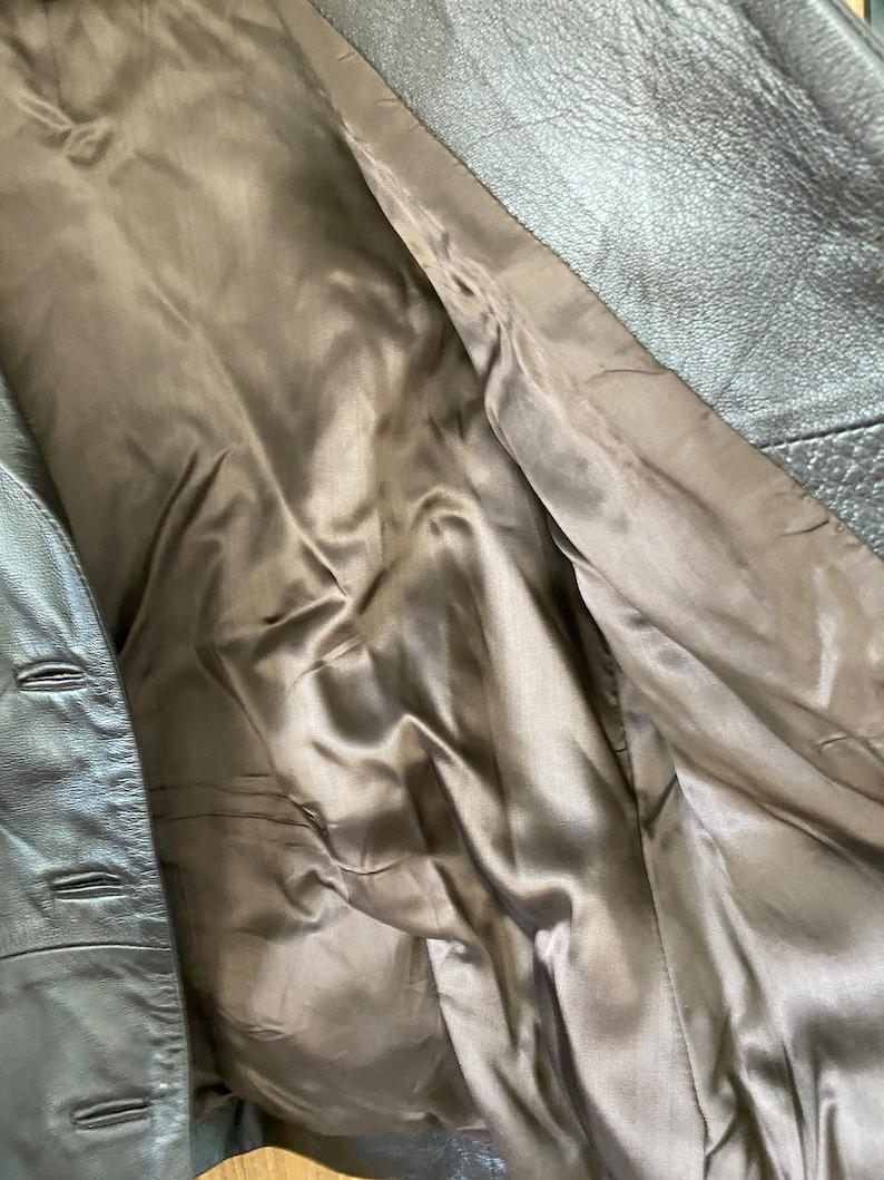 Dark Brown Made in Florence Italy Vintage Raffaello Women/'s Leather Jacket Size S