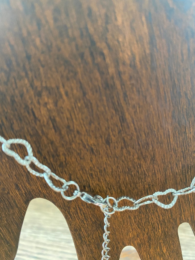 Adorable silver bracelet of hearts or for yourself or just because very dainty 7 perfect for gift on Valentines/' Day