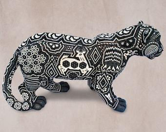 """Huichol Art """"Great Jaguar"""""""