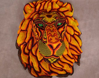 "Huichol Art ""Lion King"""