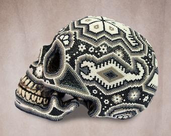 Huichol Art « White Skull »